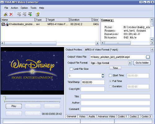 YASA MP4 Video Converter